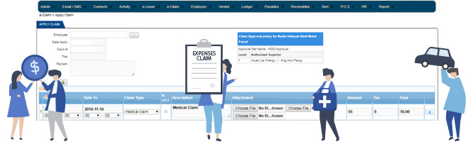 e-claim system hr software
