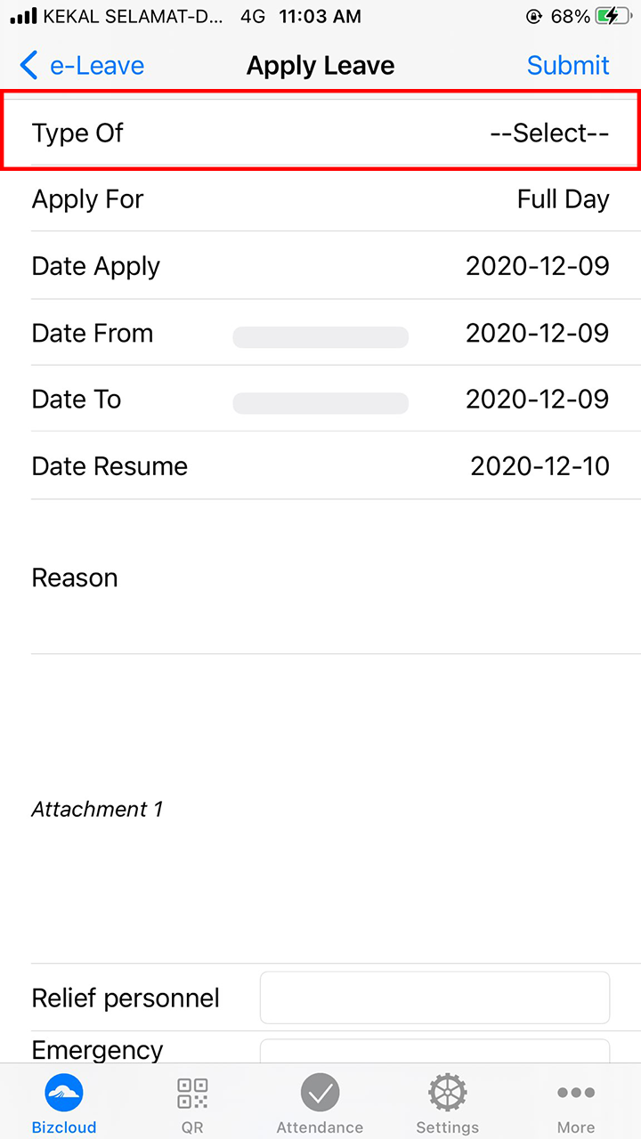 leave application ios app